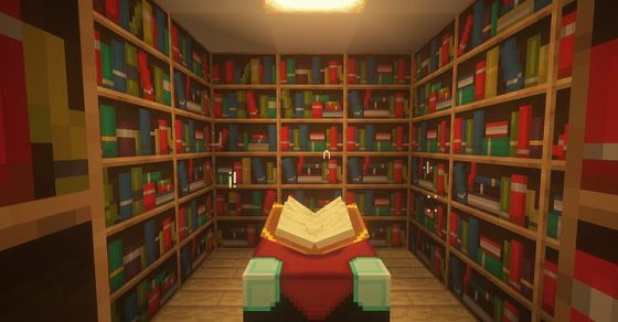 minecraft bookshelves hd wallpaper preview